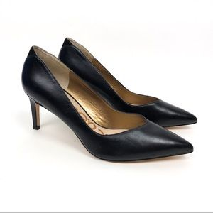 Sam Edelman Orella Black Leather Heels